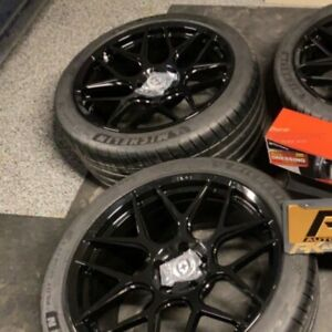 Gloss Black Hre Wheels 5x120 1 Front 1 Rear 20x10 5 And 20x9