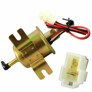 12v Universal Inline Low Pressure Gas Fuel Pump For Carburetor Lawn Mower Hep02a