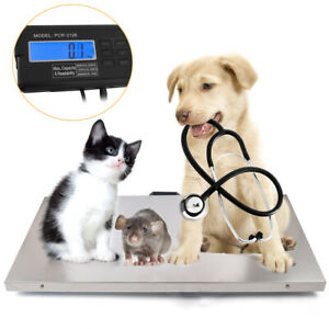 Multi use Digital Scale Animal Floor Scale Heavy duty Stainless Steel 440lb Us