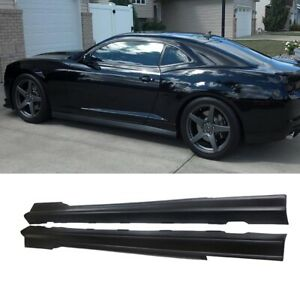 For 2010 15 Chevy Chevrolet Camaro Zl1 Style Side Skirts Chin Splitter Extension