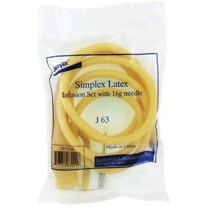 Sterile Latex Infusion Set With 16g Needle Jorvet For Large Animals