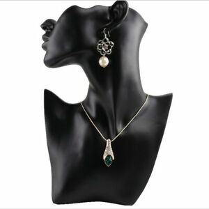 Resin Earring Necklace Display Bust Stand Mannequin Jewelry Holder For Female
