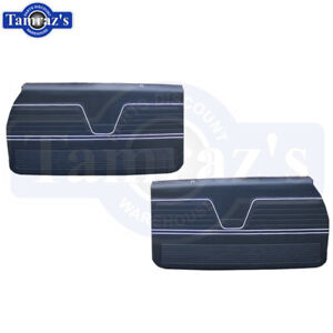 For 69 1969 Chevelle Front Door Panels Pre assembled Black New In Stock