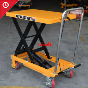 Single Scissor Hydraulic Lift Table cart 330lbs Capacity 29in Lifting Height