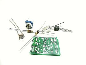 Diy Dark Opearated Light pcb With Component Kit using Bc547 Ldr