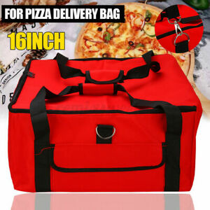 Pizza Delivery Bag Red Insulated Thermal Food Storage Holder Pizza Outdoor 16