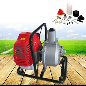 Portable Water Transfer Pump 1 43cc 2hp Air cooled Engine Single Cylinder Gas