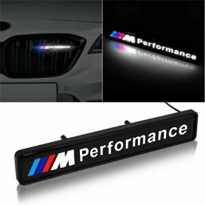 Front Grille Badge Led Light Luminous Universal New For Bmw M Sport Performance