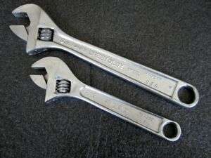 Vintage Crescent Ridgid 6 8 Adjustable Wrench Crestoloy 706 Made In Usa