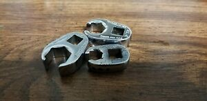 Lot Of 3 Snap On Flare Nut Crowfoot Wrenches