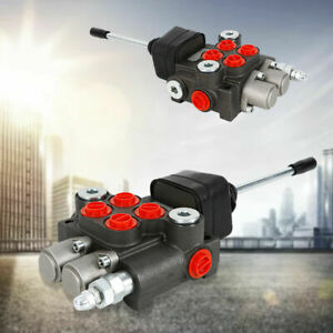 2 Spool Hydraulic Directional Control Valve Double Acting Cylinder 11gpm 3600psi