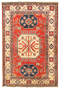 Vintage Hand Knotted Carpet 3 4 X 5 2 Traditional Oriental Wool Area Rug