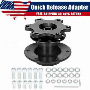 Universal 6 Hole Steering Wheel Quick Release Hub Adapter Snap Off Boss Kit