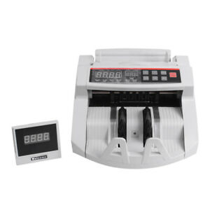 Led Money Bill Counter Machine Cash Counting Counterfeit Detector Uv Mg For Bank