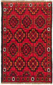 Vintage Hand Knotted Carpet 3 3 X 5 1 Traditional Oriental Wool Area Rug