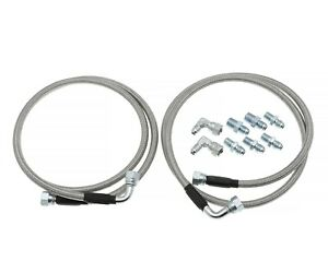 Transmission Cooler Hose Braided Lines Fit For 700r4 Th350 Th400 52 Length