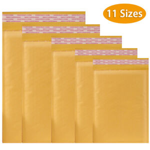 50 100packs 11 Sizes Padded Envelopes Kraft Bubble Mailers Shipping Mailing Bags