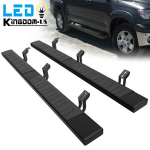 For 2007 2021 Toyota Tundra Crew Max 6 Running Boards Nerf Bars Side Steps Pair