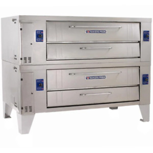 Bakers Pride Y602 Superdeck Series Gas Pizza Oven Set Ng lp