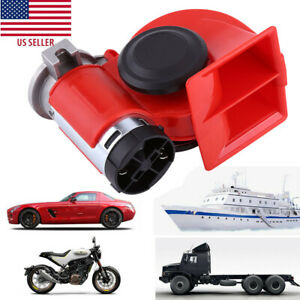 Train Horn 12v Super Loud Electric Snail Air Horn For Motorcycle Car Truck Boat