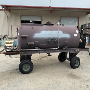 Tank Bauser 1000 gallon Fuel Oil Hydraulic Trailer Mounted Stainless Aviation Us