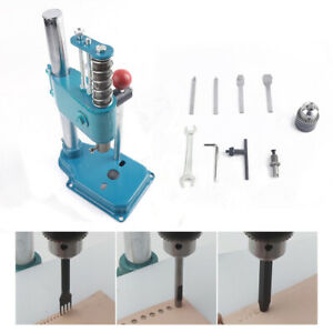 Leather Hole Puncher Punching Machine Manual Press Punch Tool Leather Imprinting