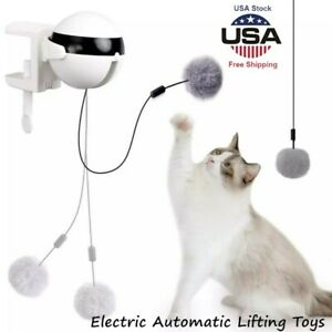 Electric Automatic Lifting Cat Ball Interactive Puzzle Smart Pets Teaser Toys US $7.99