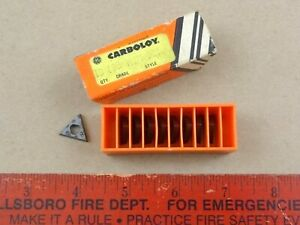 Unused Carboloy Grade 883 Style Tpmg 321 Tool Bits Cutting Lathe 9 Pieces