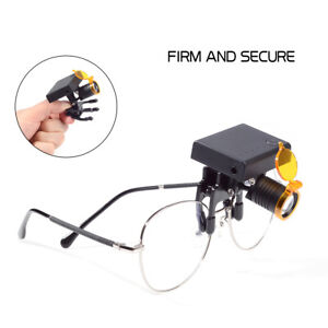 Dental 3w Led Wireless Head Light With Optical Filter For Loupes Glasses Usstock