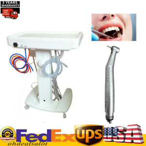Dental Delivery Unit Mobile Cart Kit Curing Light Ultrasonic Scaler Handpiece