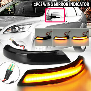 Led Side Mirror Sequential Dynamic Turn Signal Light For Ford Focus Mk3 2010 18
