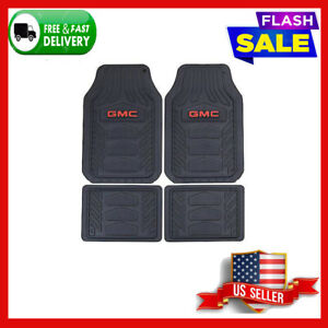 New 4pc Gmc Truck Suv Front Rear All Weather Heavy Duty Rubber Floor Mats Set