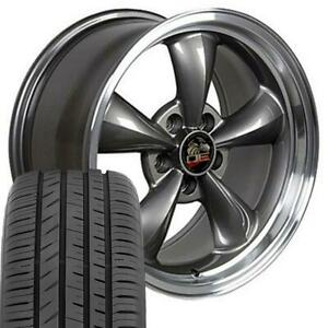 Oew Fits 17x9 17x10 5 Anthracite Bullitt Wheels Tires Of Rims Mustang Gt