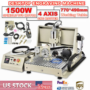 Usb 4axis Cnc 6040 Engraving 3d cutter Drill mill Cutter Machine Engraver Router