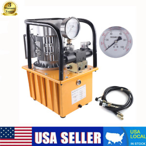 Ac110v Electric Driven Hydraulic Pump Double Acting Pedal Solenoid Valve Control