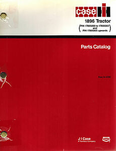 Case ih 1896 Tractor Parts Catalog Manual new Don 8 4330
