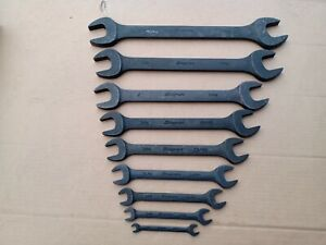 Snap On Double Open End Wrench Set Industrial Finish