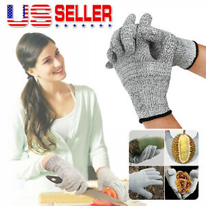 Cut Proof Gloves Stab Resistant Safety Protection Full Finger Butcher Kitchen Us