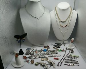 Large Lot Of Sterling Silver 925 Vintage To Modern Jewelry 356 Grams