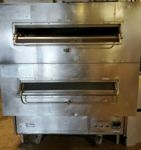 Middleby Marshall Double Stack Natural Gas Conveyor Pizza Oven Domino s