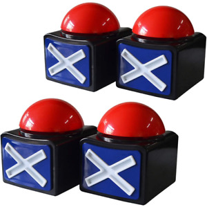 Pack Of 4 Game Answer Buzzer Alarm Button Box With Sound Light Party Contest Pro