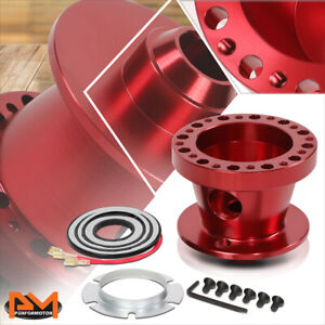 For 84 04 Mustang 84 86 Ranger 6 Bolt Steering Wheel Quick Release Adapter Red