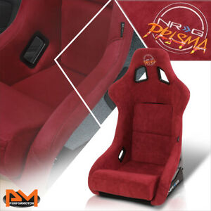 Nrg Frp 302mar prisma Large Size Bucket Racing Seat W mounting Adapters Maroon