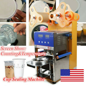 Cup Sealing Machine 400w Semi automatic Coffee Bubble Cup Sealer Max 600 Cups hr