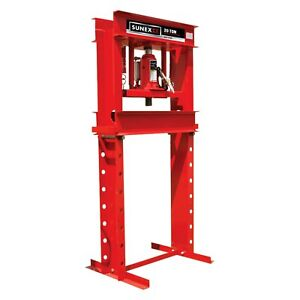 Sunex 5720ah 20 Ton Air hydraulic Press W Hand Winch