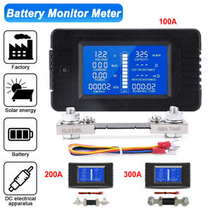 Multifunctional Lcd Dc Battery Monitor Meter 100 300a Volt Amp Car Solar System