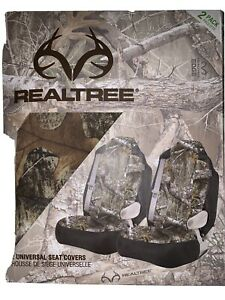 Real Tree Mossy Oak Country High Back Car Seat Cover 2pk New