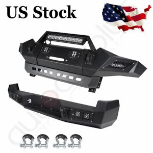 Aggressive Style Front Rear Bumper Built In 5 Led Lights For Toyota Tacoma 05 15