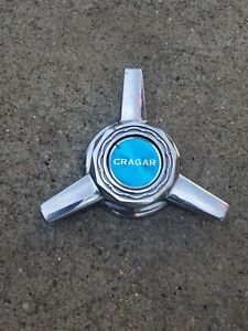 Vintage Crager Wheel Center Cap Spinners 2 Bar Starwire Muscle Hot Rod