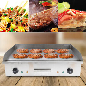 4400w Commercial Electric Food Griddle Plate Grill Countertop Flat Bbq Cooking